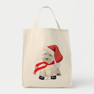 Santa in Boots Grocery Tote Bag