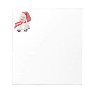 Santa in Boots Notepad