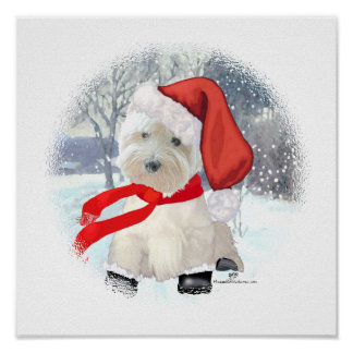 Santa in Boots Poster