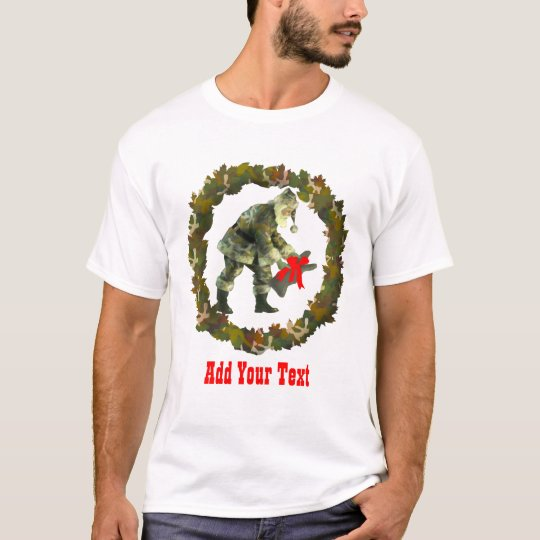 Santa in Camouflage T-Shirt