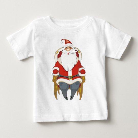 Santa in Chair Baby T-Shirt