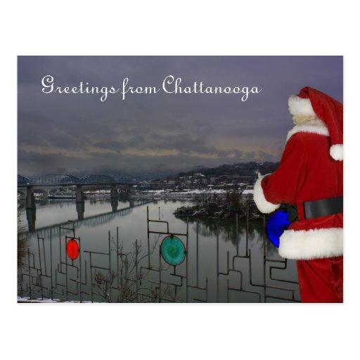 Santa in Chattanooga Post Card