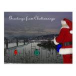 Santa in Chattanooga Postcard