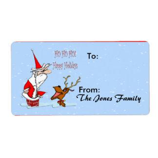 Santa in Chimney Gift Tag