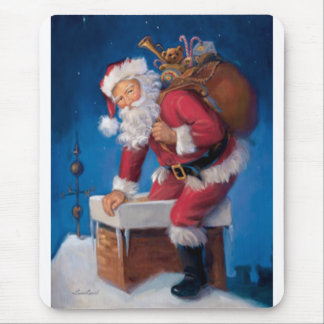 Santa in Chimney Mouse Pad