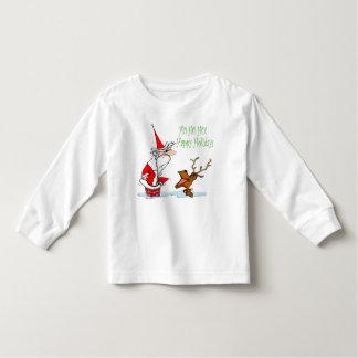 Santa in Chimney Toddler T-shirt
