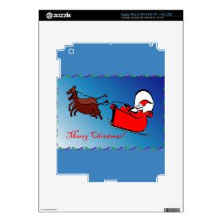 Santa in his Sleigh 2 on iPad 3 Skin