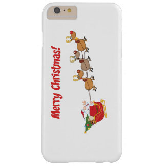 Santa in his Sleigh Barely There iPhone 6 Plus Case