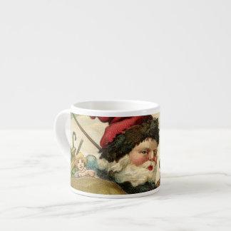 Santa in his Sleigh Espresso Cup
