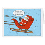 santa in his sleigh greeting cards