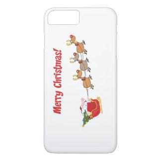 Santa in his Sleigh iPhone 7 Plus Case
