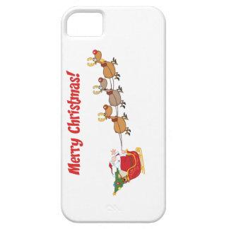 Santa in his Sleigh iPhone SE/5/5s Case