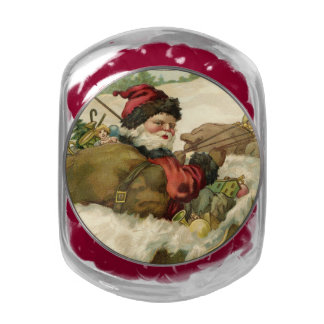 Santa in his Sleigh Jelly Belly Candy Jar
