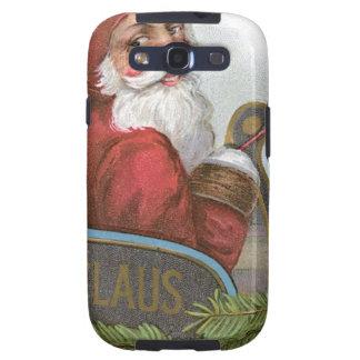 Santa in his sleigh on Christmas Galaxy S3 Case