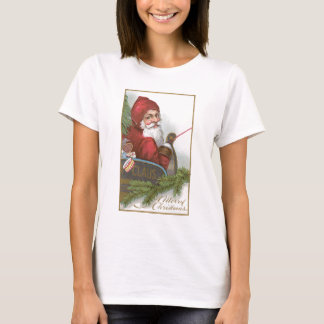 Santa in his sleigh on Christmas T-Shirt