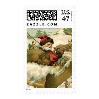 Santa in his Sleigh Postage