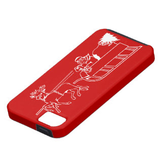 Santa in His Sleigh - Red Christmas iPhone 5 Case