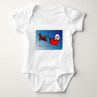 Santa in his Sleigh Tee Shirt