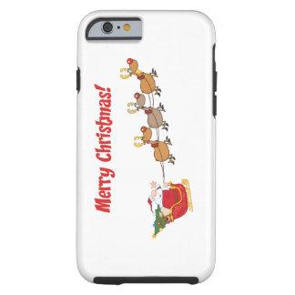 Santa in his Sleigh Tough iPhone 6 Case