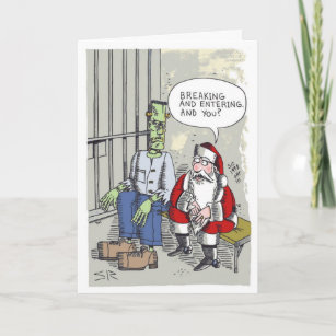 In Jail Christmas Cards Zazzle 100 Satisfaction Guaranteed