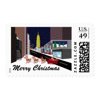 Santa In New York Christmas Postage