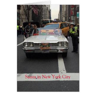 Santa in New York City, Christmas Card