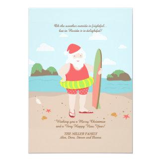 Santa in Paradise Holiday Card