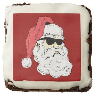 Santa in Shades Square Brownie