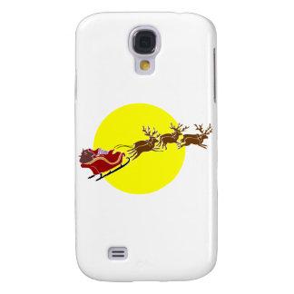Santa in Sleigh Samsung Galaxy S4 Covers