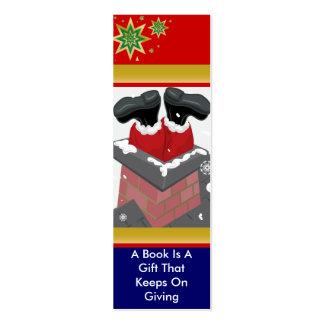 Santa in the Chimney Bookmark Mini Business Card