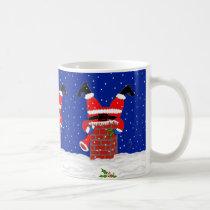 Santa in the Chimney on Coffee/Tea Mug