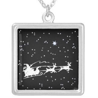 Santa in the Sky Necklace