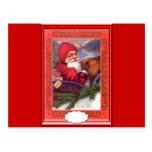 Santa in the sleigh, postcard