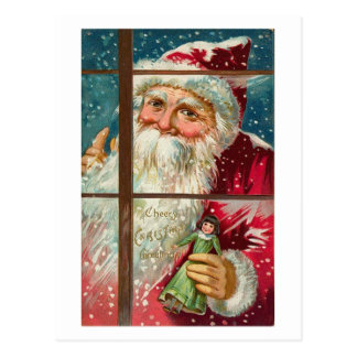 Santa in the Window Postcards