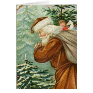 Santa in the Woods Cards