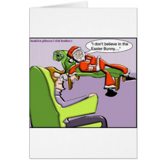Santa In Therapy Funny Christmas Gifts & Tees Cards