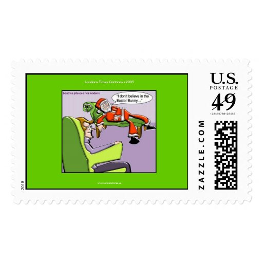 Santa In Therapy Funny Christmas Real US Stamps