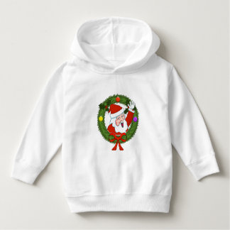 Santa in Wreath Toddler Hoodie