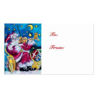 SANTA INSPIRADO/noche de navidad musical Tarjetas De Visita
