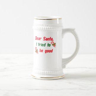 Santa intenté ser bueno taza de café