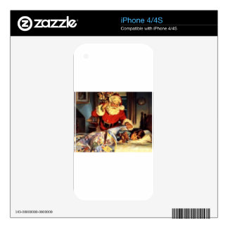 Santa iPhone 4 Decal