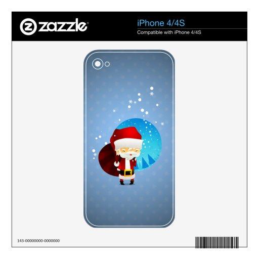 Santa iPhone 4S Calcomanías