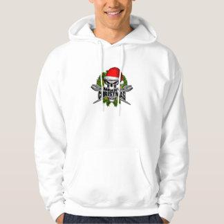 Santa Ironworker Skull Hoodie