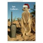 Santa is calling you - Seasons greetings 3 Greeting Cards