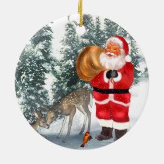 Santa Is Coming 2 Christmas Ornament