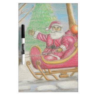 Santa is coming Dry-Erase board