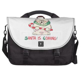 SANTA IS COMING COMPUTER BAG