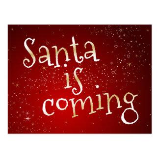 Santa Is Coming Postcard From Santa