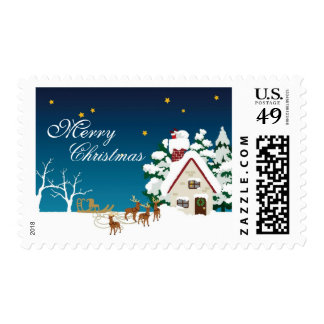 Santa Is Coming to My House - Merry Christmas Stamps