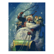Santa is Coming to Town Postcard